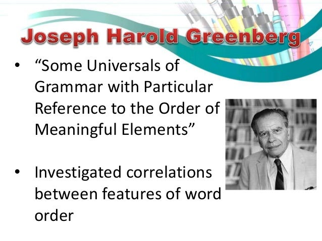 Linguistic universals