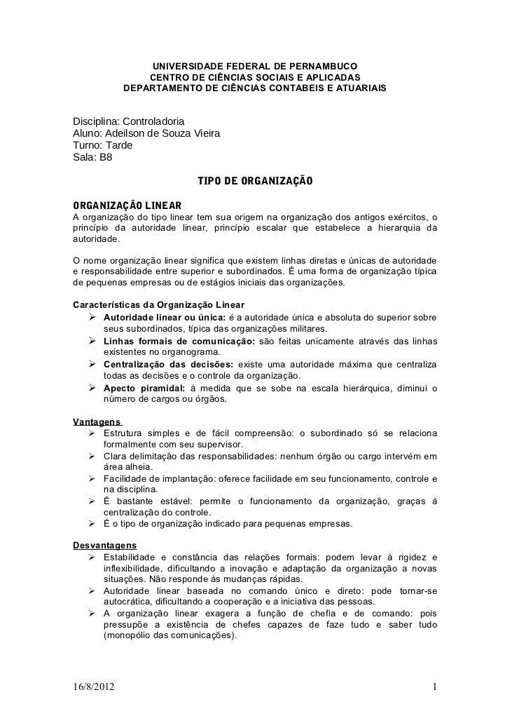 UNIVERSIDADE FEDERAL DE PERNAMBUCO                CENTRO DE CIÊNCIAS SOCIAIS E APLICADAS            DEPARTAMENTO DE CIÊNCI...