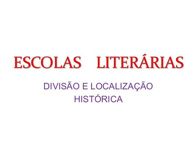 DIVISÃO E LOCALIZAÇÃO  HISTÓRICA