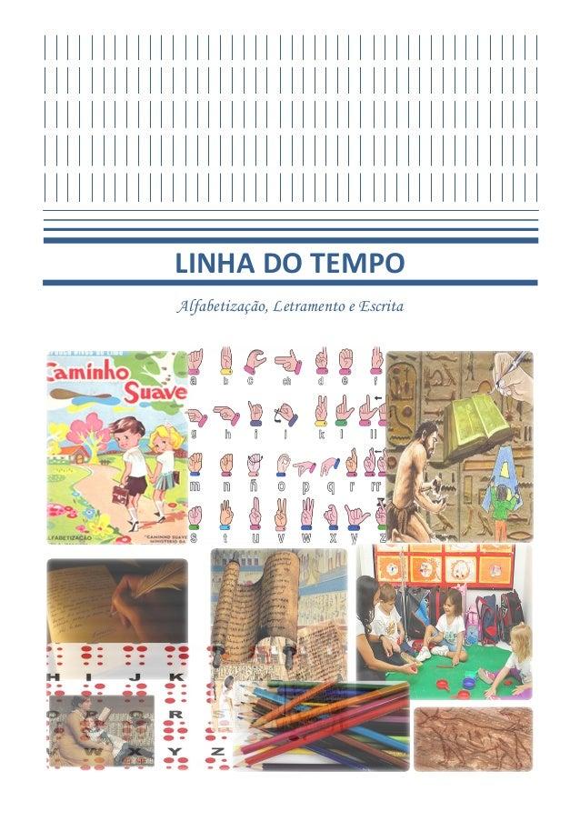 LINHA DO TEMPOAlfabetização, Letramento e Escrita