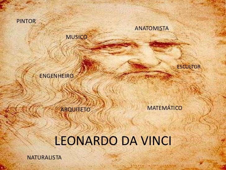 PINTOR     LEONARDO DA VINCI                      ANATOMISTA                 MUSICO                                   ESCU...