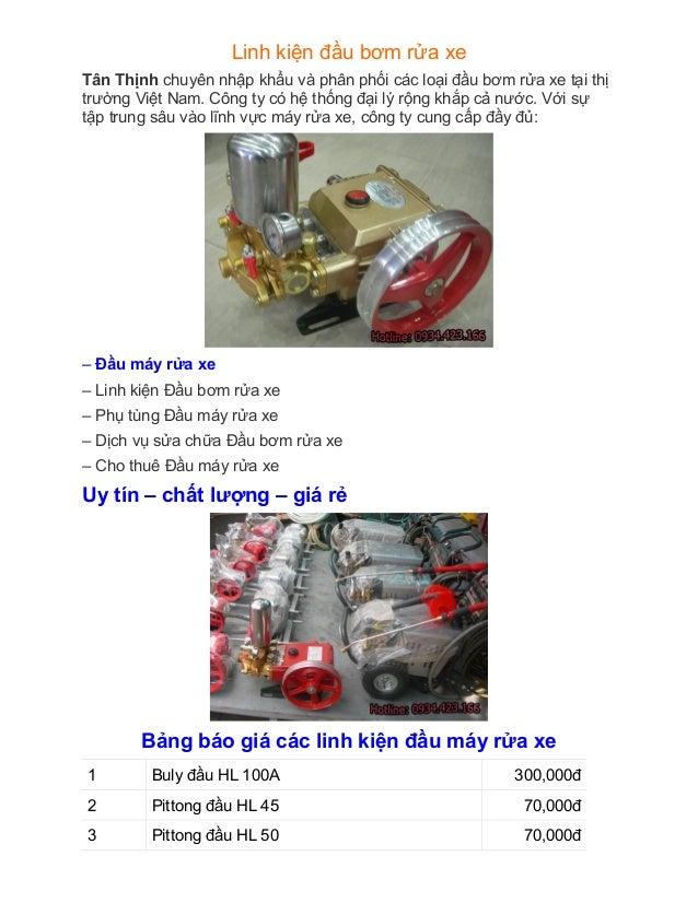Linh kiện đầu bơm rửa xe Tân Thịnh chuyên nhập khẩu và phân phối các loại đầu bơm rửa xe tại thị trường Việt Nam. Công ty ...