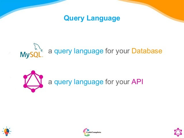 Query Language a query language for your Database a query language for your API