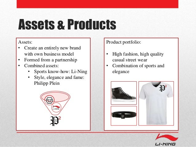 Assets & Products  Assets:  • Create an entirely new brand  with own business model  • Formed from a partnership  • Combin...