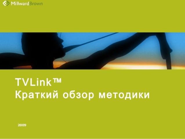 2009 TVLink™ Краткий обзор методики