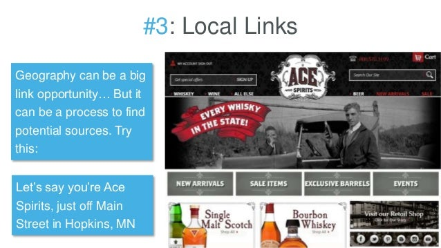 #3: Local Links Geography can be a big link opportunity… But it can be a process to find potential sources. Try this: Let'...