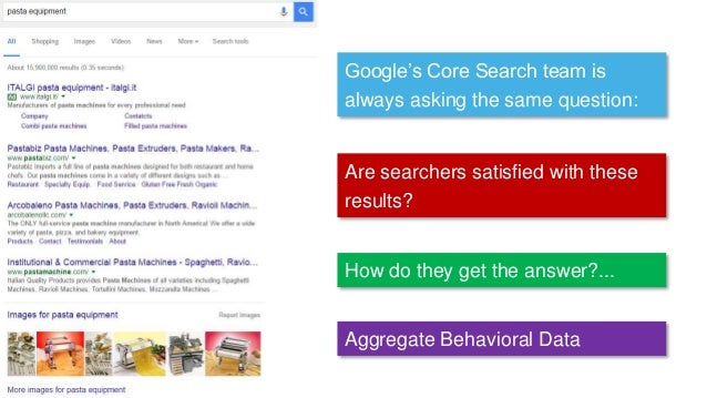 Google's Core Search team is always asking the same question: Are searchers satisfied with these results? How do they get ...