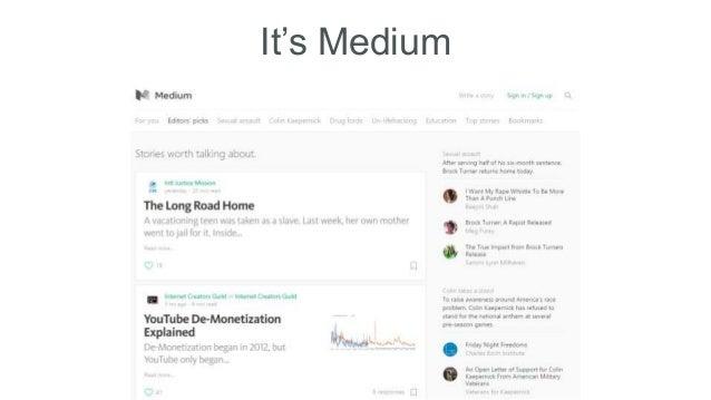 It's Medium