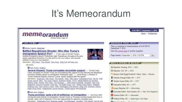 It's Memeorandum