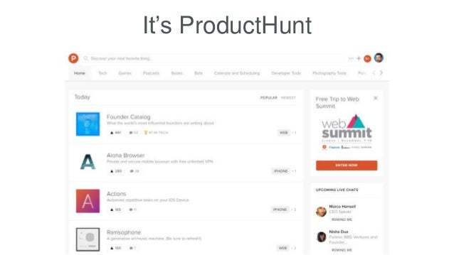 It's ProductHunt