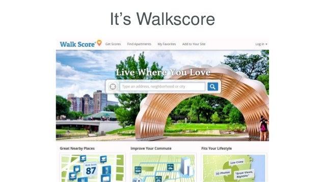 It's Walkscore