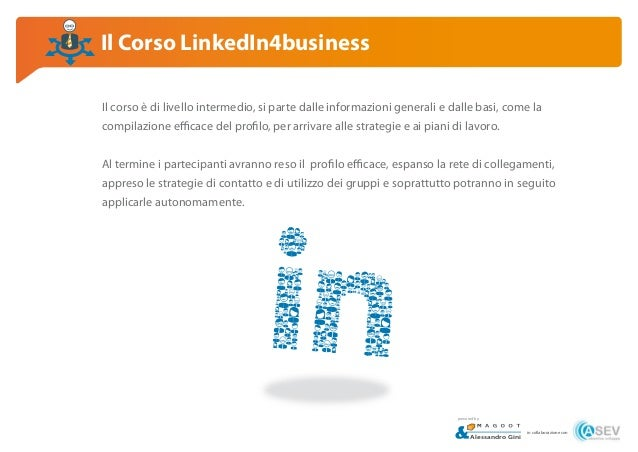 Corso LinkedIn4business, Empoli Slide 3