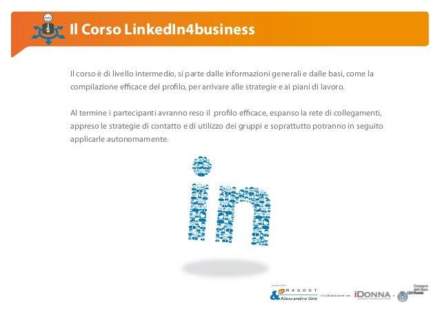 Corso LinkedIn4business, Padova Slide 3