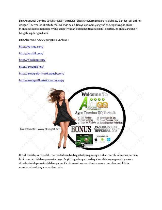 Link agen judi domino 99 di akuqq - versiqq