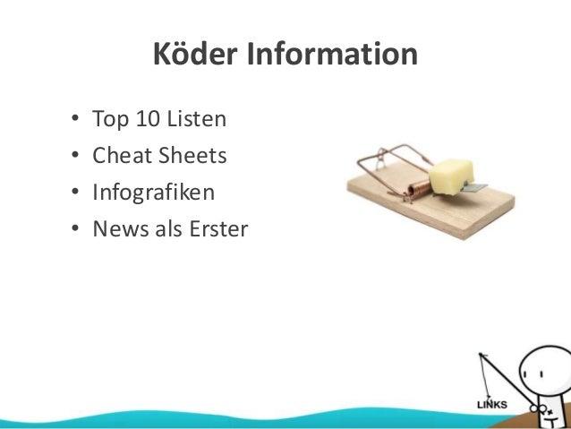 Köder Information • Top 10 Listen • Cheat Sheets • Infografiken • News als Erster