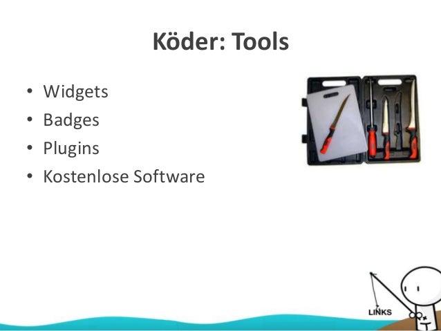 Köder: Tools • Widgets • Badges • Plugins • Kostenlose Software