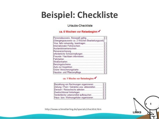 Beispiel: Checkliste http://www.schmetterling.de/specials/checklist.htm