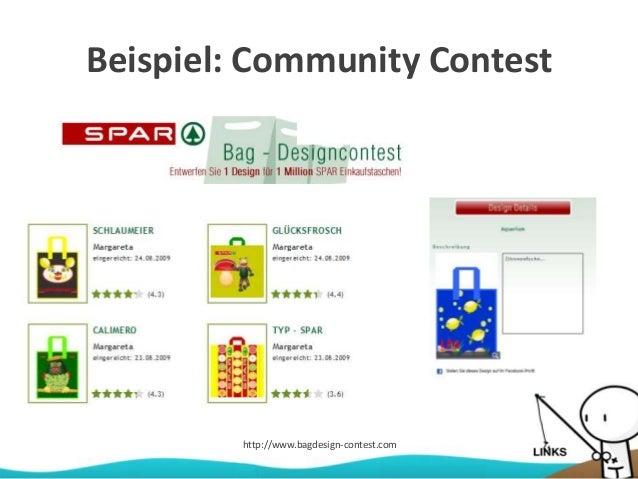 Beispiel: Community Contest http://www.bagdesign-contest.com