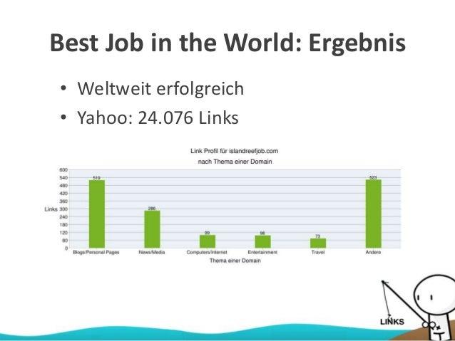 Best Job in the World: Ergebnis • Weltweit erfolgreich • Yahoo: 24.076 Links