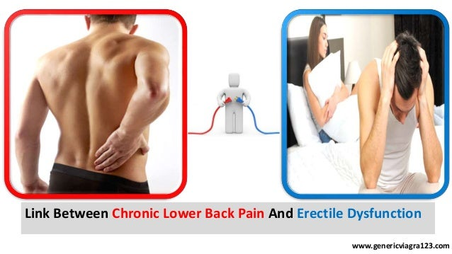 can lower back pain cause erectile dysfunction