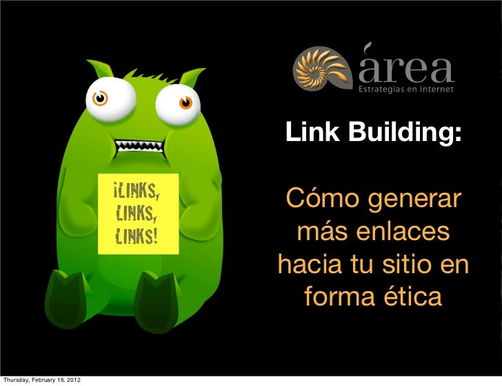 Link Building:                              ¡LINKS,                                  Cómo generar                         ...