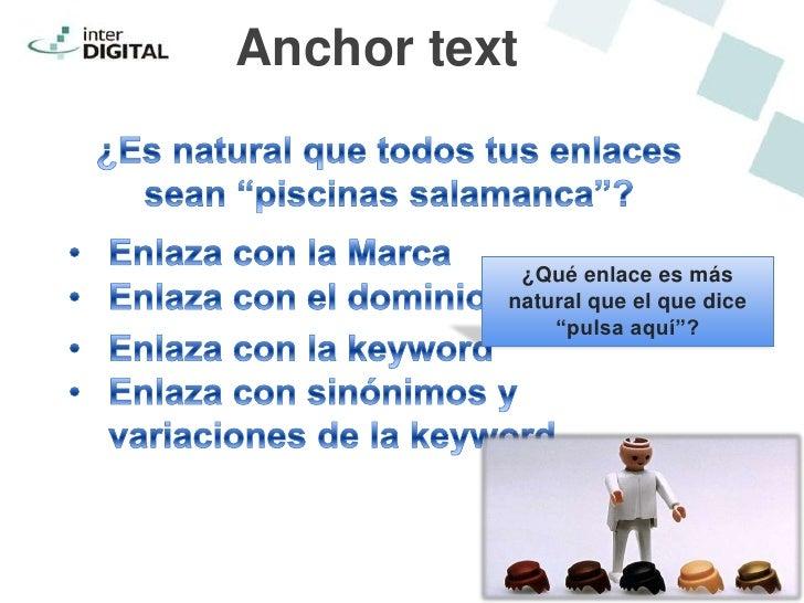 """Anchor text           ¿Qué enlace es más          natural que el que dice              """"pulsa aquí""""?"""
