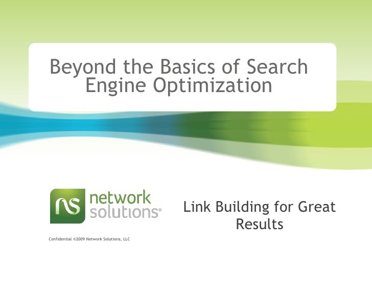 Beyond the Basics of Search Engine Optimization Link Building for Great Results