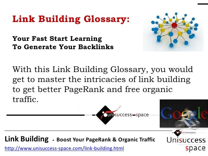 Link building glossary boost pagerank now for Construction terms dictionary