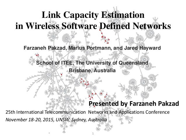 Link Capacity Estimation in Wireless Software Defined Networks