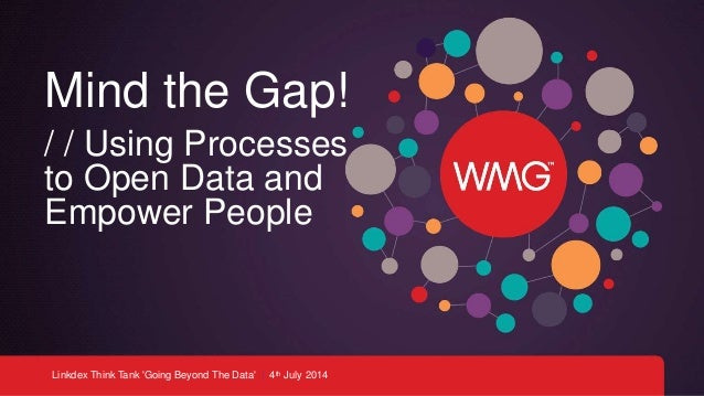 Linkdex Think Tank 'Going Beyond The Data' | 4th July 2014 Mind the Gap! / / Using Processes to Open Data and Empower Peop...