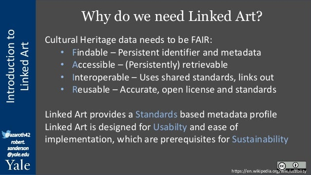 Linked Art: Sustainable Cultural Knowledge through Linked Open Usable Data Slide 2