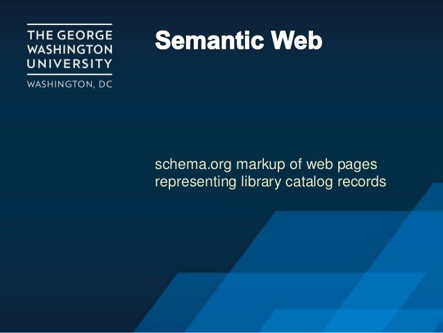 schema.org markup of web pages representing library catalog records