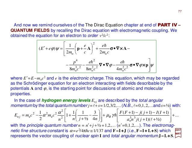 Part V - The Hydrogen Atom