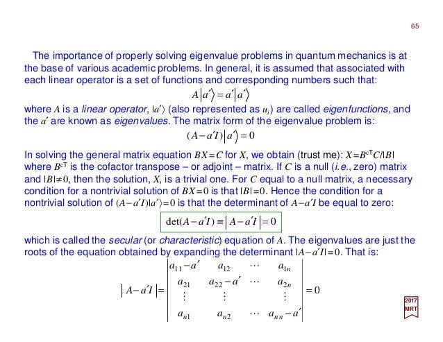 Part III - Quantum Mechanics