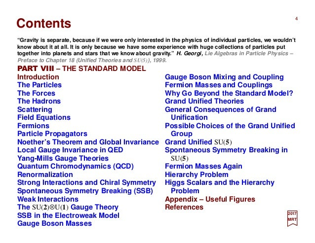 Part VIII - The Standard Model