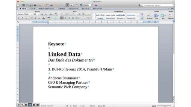 """Herzlich Willkommen! • Einleitende Gedanken über """"Informationsqualität & Wissensgenerierung"""" • Was ist Linked Data? - Waru..."""