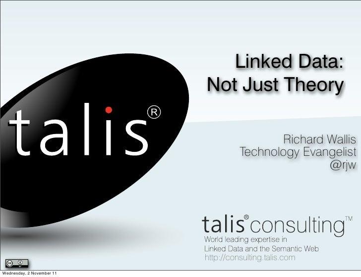 Linked Data:                           Not Just Theory                                            Richard Wallis          ...