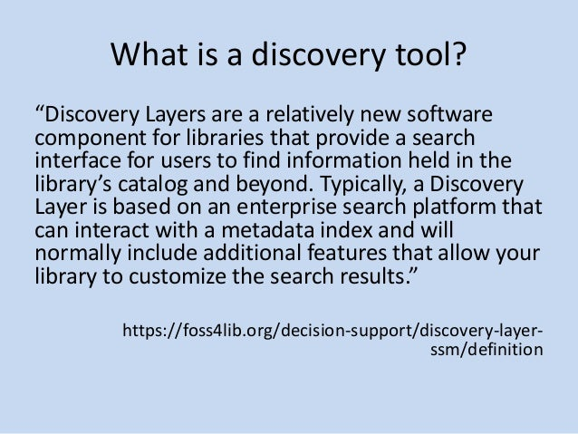 Linked Data, Library Users, and the Discovery Tools of the Future