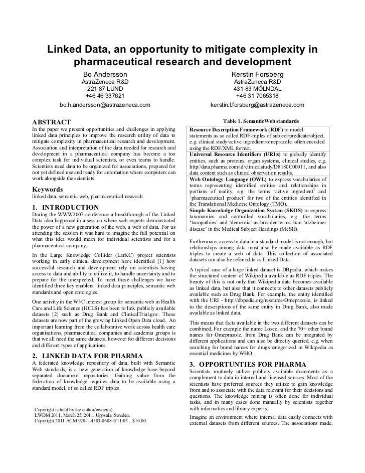 pharmaceutical research papers