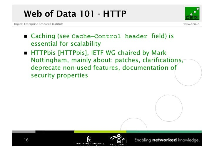 Web of Data 101 - HTTP Digital Enterprise Research Institute                        www.deri.ie                 Caching (s...