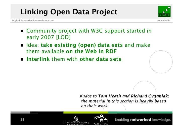 Linking Open Data Project Digital Enterprise Research Institute                                         www.deri.ie       ...