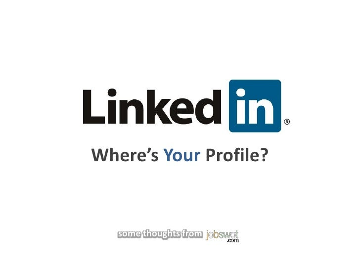 Where's Your Profile?<br />some thoughts from<br />