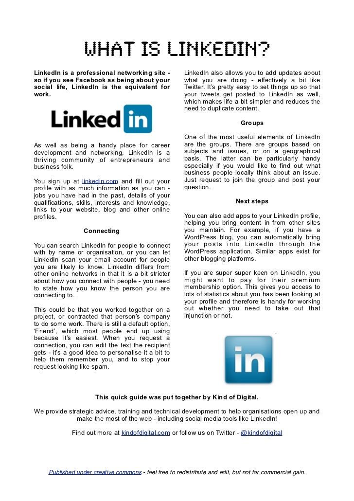 What is linkedin?LinkedIn is a professional networking site -             LinkedIn also allows you to add updates aboutso ...