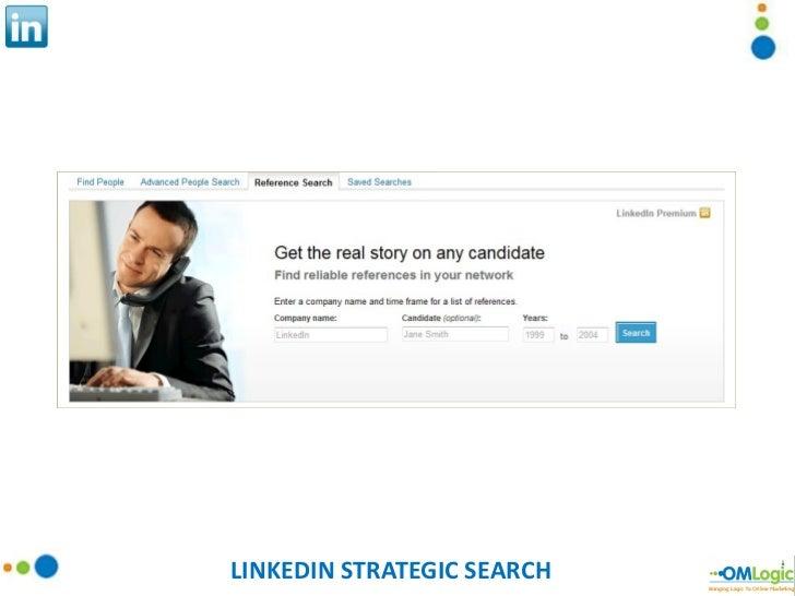 LINKEDIN STRATEGIC SEARCH