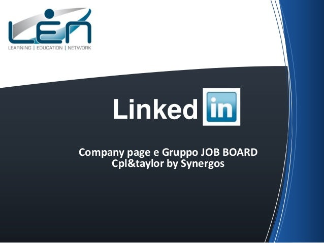 LinkedCompany page e Gruppo JOB BOARD     Cpl&taylor by Synergos