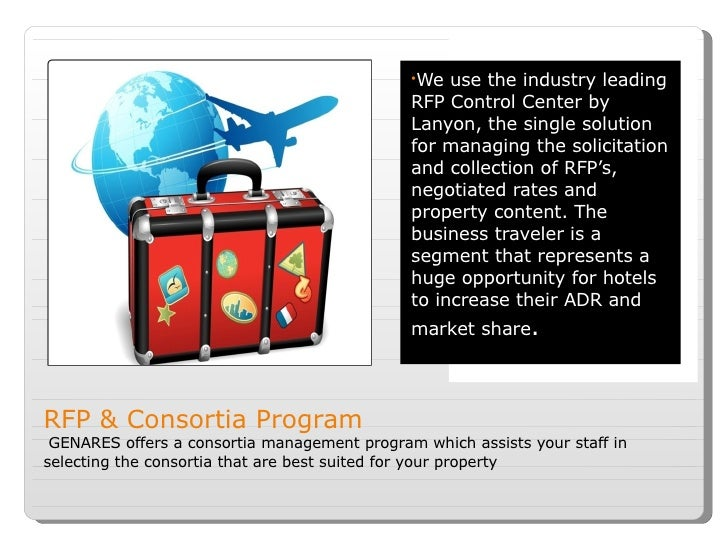 RFP & Consortia Program  GENARES offers a consortia management program which assists your staff in selecting the consortia...