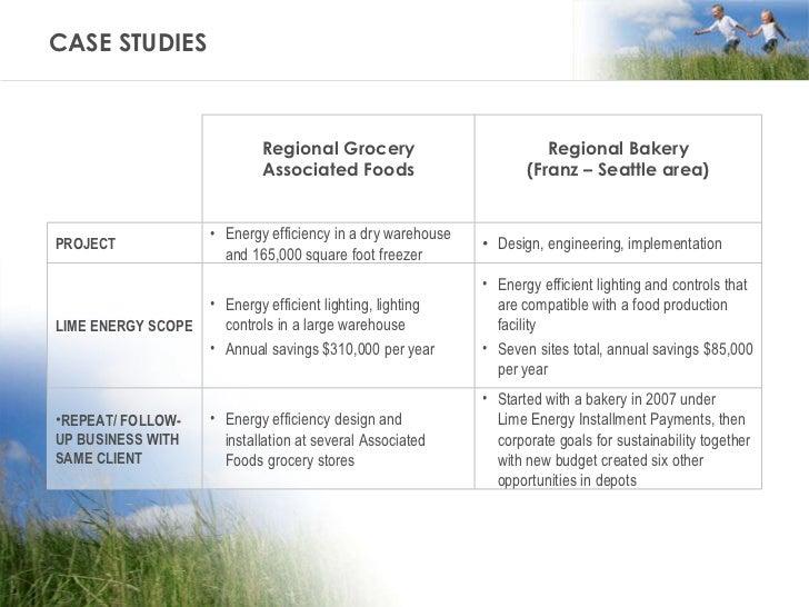 CASE STUDIES Regional Grocery Associated Foods Regional Bakery (Franz – Seattle area) PROJECT <ul><li>Energy efficiency in...