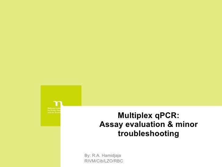 Multiplex qPCR: Assay evaluation & minor troubleshooting By: R.A. Hamidjaja RIVM/Cib/LZO/RBC
