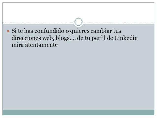 Editar perfil Linkedin Slide 2