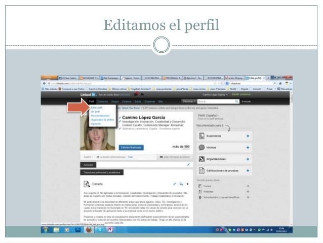 Editar perfil Linkedin Slide 3